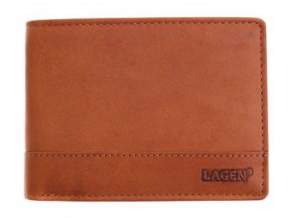 Pánská kožená peněženka Lagen 64665 koňakově hnědá