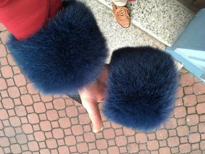 Kožešinový manžety z polární lišky KMPL2 tmavě modré