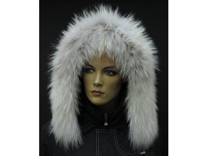 Kožešina na kapuci z finského mývalovce 4057 ARKTIK - 2. JAKOST