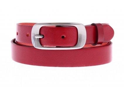 Dámský úzký kožený opasek Penny Belts 25-173-93 červený