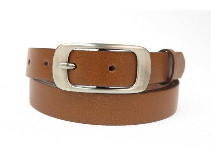 Dámský kožený opasek Penny Belts 25-173-48 koňakově hnědý