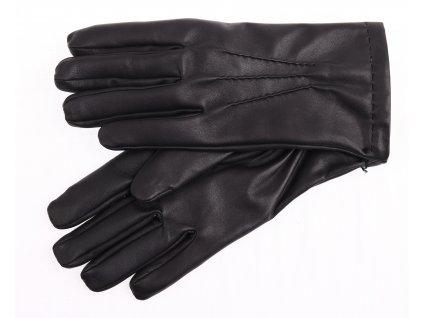 Pánské kožené rukavice zateplené vlněnou podšívkou 2019 černé