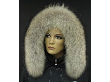 Kožešinový lem na kapuci z finského mývalovce 3024 NATUR