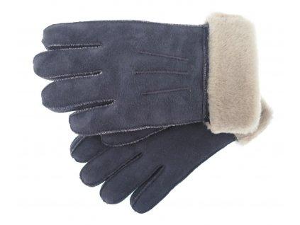 Dámské kožešinové rukavice prstové