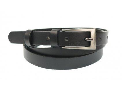 Dámský úzký kožený opasek Penny Belts 20-180-60 černý