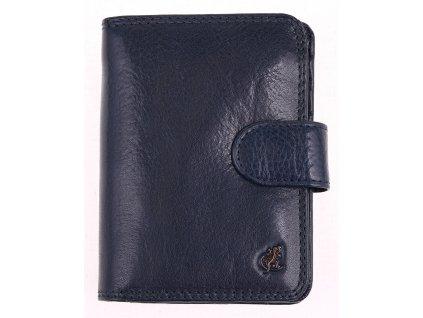 Dámská kožená peněženka Cosset 4494 Komodo Blue tmavě modrá se zápinkou