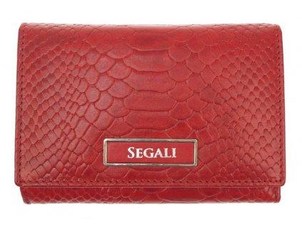 Dámská kožená peněženka Segali 910199510 Red