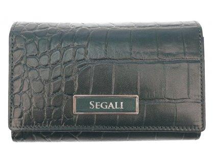 Dámská kožená peněženka Segali 91019704 tmavě zelená