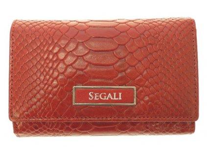 Dámská kožená peněženka Segali 91019704 Red