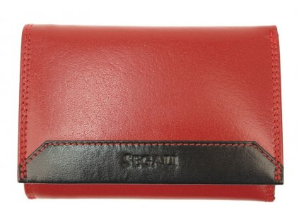 Dámská kožená peněženka Segali SG60100B červená s černou