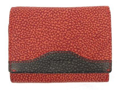 Kožená peněženka Segali SG61420 červenočerná z broušené kůže