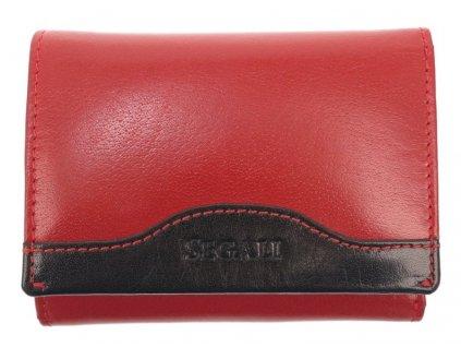 Dámská kožená peněženka Segali SG61420 red black