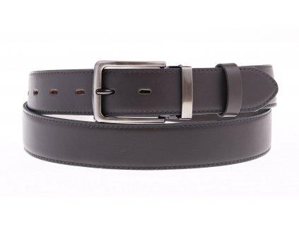 Pánský společenský kožený opasek Penny Belts 3538 šedý