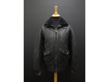 Pánská kožená bunda s kožíškem Deercraft Force černá
