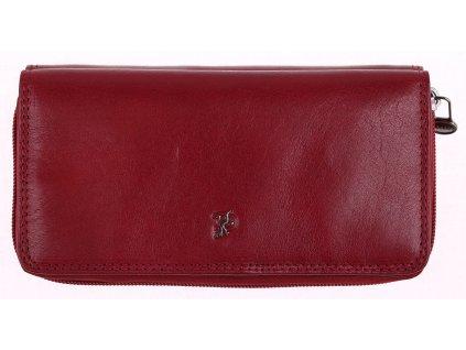 Dámská kožená peněženka s organizérem Cosset 4401 Komodo bordová