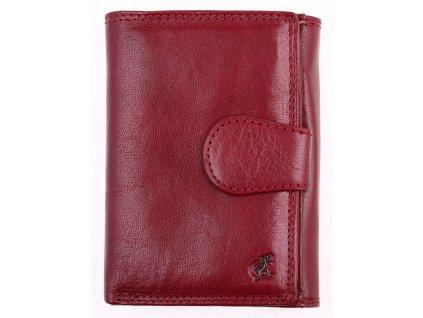 Dámská kožená peněženka Cosset 4409 Komodo Bordeaux tmavě červená