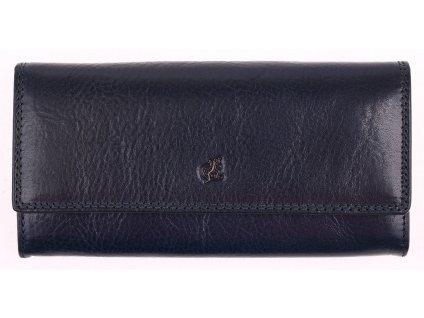 Tmavě modrá kožená peněženka Cosset 4493 Komodo