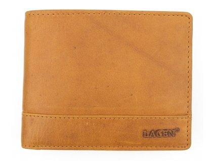 Pánská kožená peněženka Lagen V-76/V koňakově hnědá