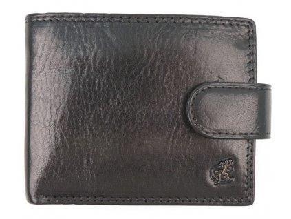 Malá pánská kožená peněženka Cosset 4411 Komodo černá se zapínáním