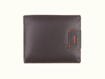 Pánská kožená peněženka Lagen 1121 tmavě hnědá