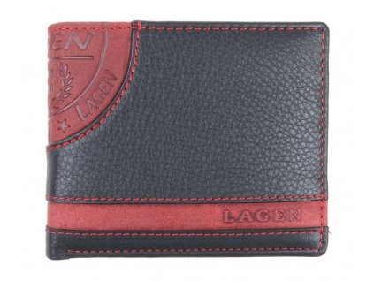 Pánská kožená peněženka Lagen LG 1812 černá červená