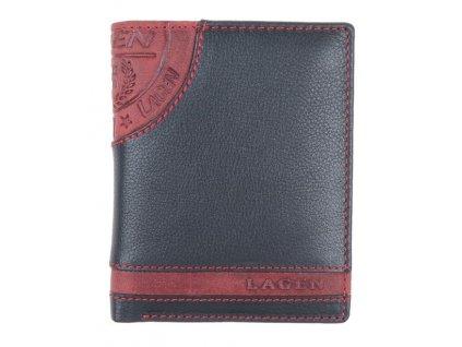 Pánská kožená peněženka Lagen LG 1813 černočervená