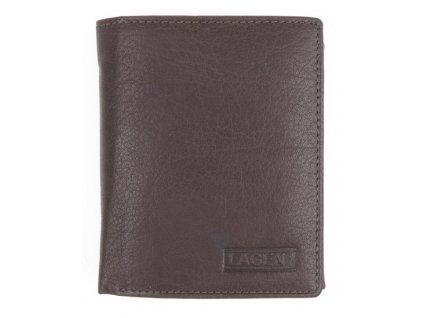 Pánská kožená peněženka Lagen 2310004 tmavě hnědá