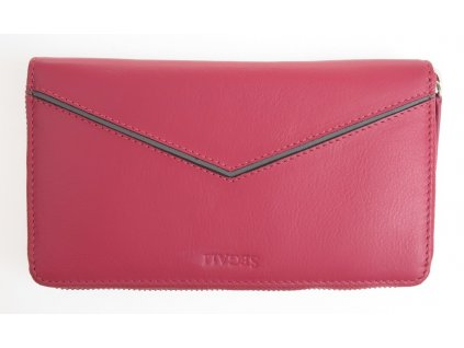 Kožená peněženka - kožený penál na zip Segali 1084 růžový