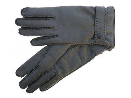 Luxusní dámské kožené rukavice 4383 šedé
