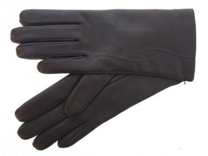 Dámské kožené rukavice 4162 tmavě hnědé