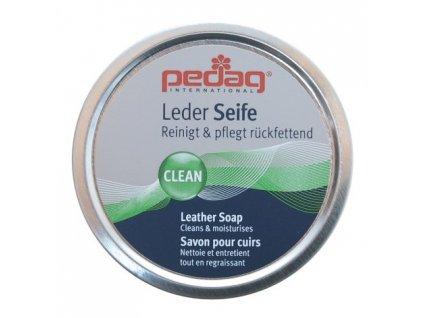 PEDAG Leather Seife speciální mýdlo pro čištění hladkých usní, kožených bot. Čistidlo na gumovky a holínky.