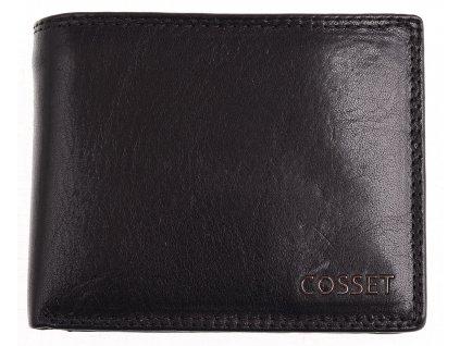 Pánská kožená peněženka Cosset 4465 Vitto černá