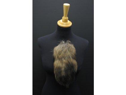krátký kožešinový ohon na kabelku