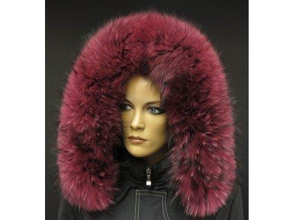 Kožešina na kapuci z finského mývalovce 2082 FUCHSIE