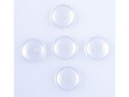 Montážní sada pěti knoflíčků k přidělání kožešinového lemu - transparentní