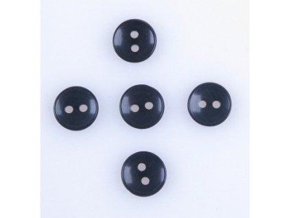 Montážní sada pěti knoflíčků k přidělání kožešinového lemu - černé