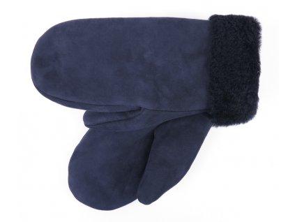Dámské kožešinové palcové rukavice šedočerné