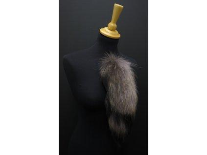 Kožešinový ocas na kabelku