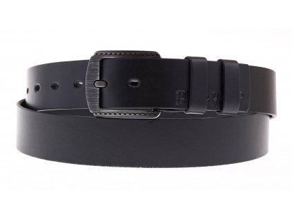 Pánský kožený opasek Black Hand 101-98 černý