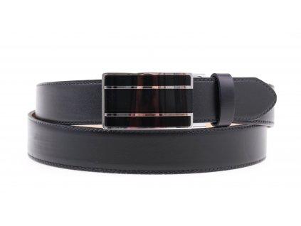 Pánský kožený opasek Penny Belts 3510 s plnou sponou AUTOMAT černý