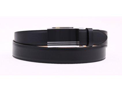 Pánský kožený opasek Penny Belts 3508 černý s automatickou sponou