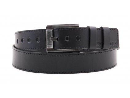 Pánský kožený opasek Black Hand 120-98 černý