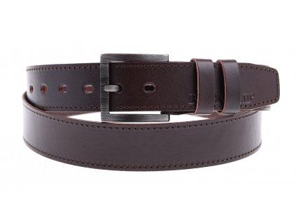 Pánský kožený pásek Black Hand 123-93 tmavě hnědý