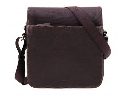 Pánská taška přes rameno Hexagona 292684 hnědá kůže + nylon