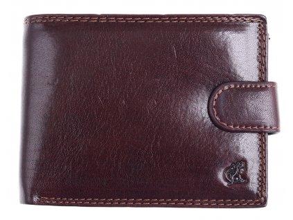 Pánská kožená peněženka Cosset 4413 Komodo hnědá se zapínáním