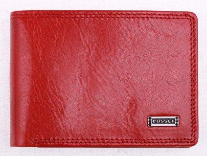 Dámské kožené pouzdro na doklady Cosset 4407 Red Flamengo červené