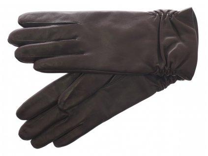 Dámské kožené rukavice 4251 tmavě hnědé