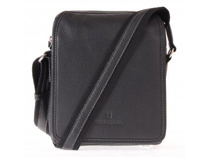 Pánská kožená taška přes rameno Hexagona 469565 černá 1