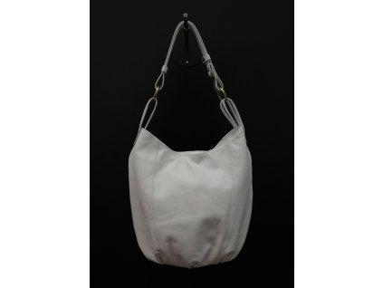Dámská bílá kožená kabelka (vak) KA20 Vera Pelle