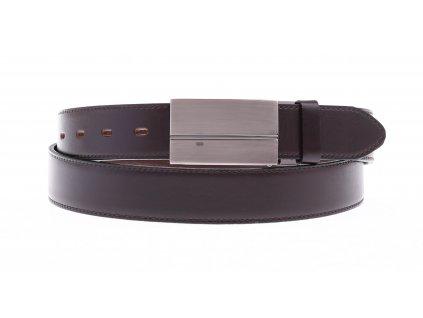 Pánský společenský kožený opasek Penny Belts 3523 tmavě hnědý
